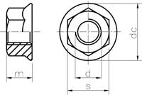 sechskantmutter mit flansch ger ndelt abstand grob. Black Bedroom Furniture Sets. Home Design Ideas